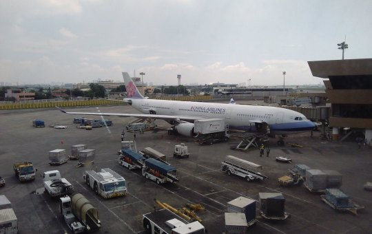 China Airlines aircraft at Manila Airport, Philippines