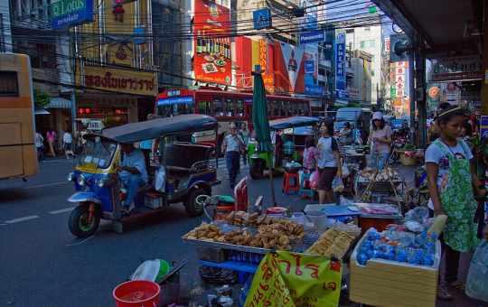 Chinatown district in Bangkok