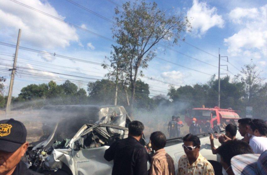 25 Die in Fiery Chonburi Wreck