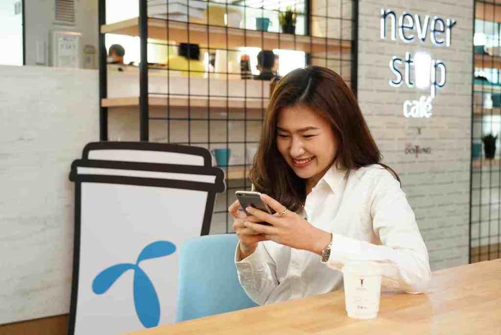 dtac testing 5G at Never Stop Cafe
