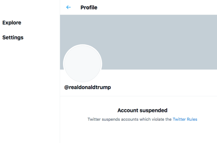 Campaigning on Twitter: microblogging site twitter permanently suspends President Donald Trump's account