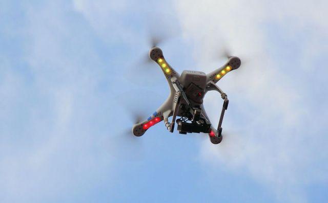 Drone recording. Photo by Henrique Boney.