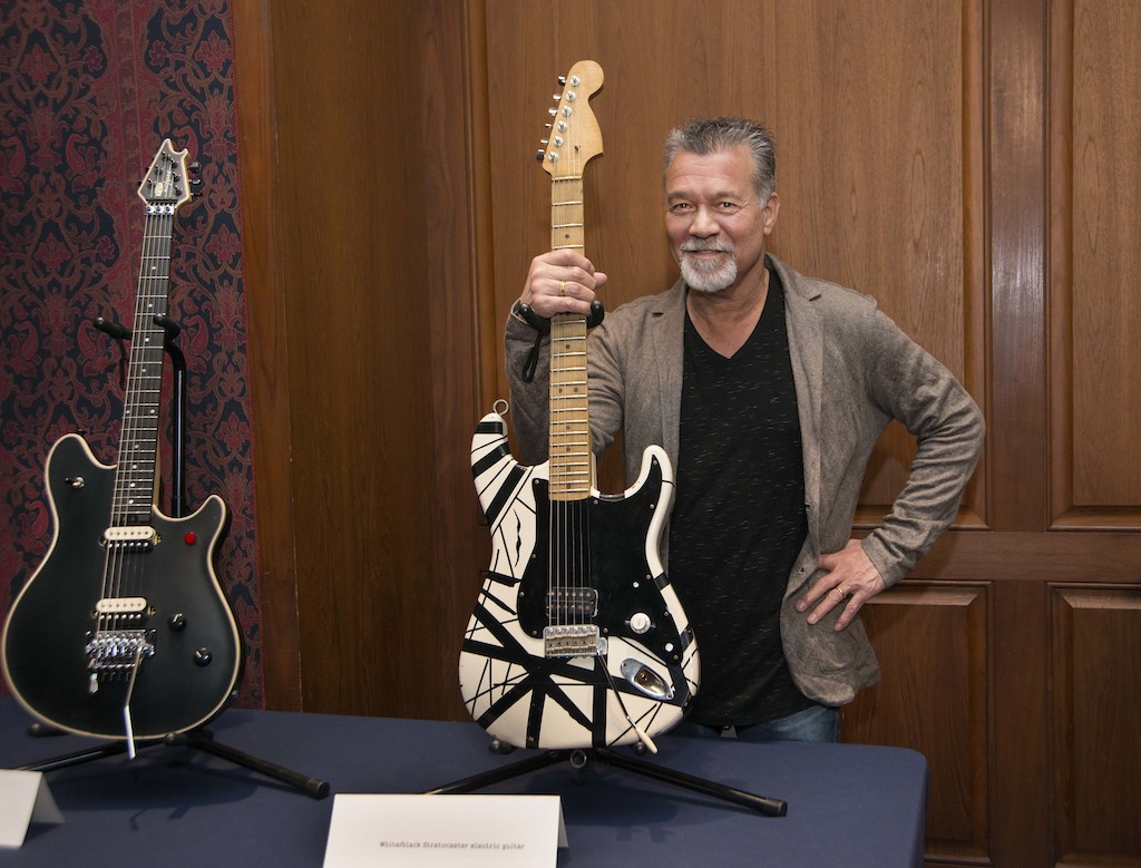 Guitar legend Eddie Van Halen spoke at the Smithsonian's National Museum of American History and Zócalo Public Square Feb. 12, 2015