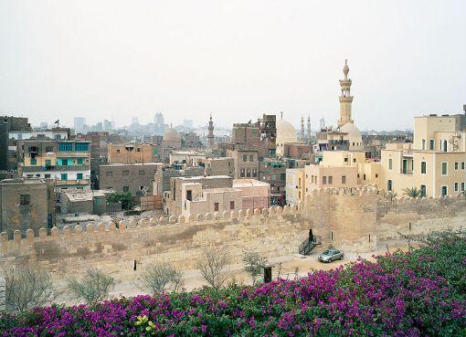 Ayyubid Wall Al-Azhar Park in Cairo, Egypt