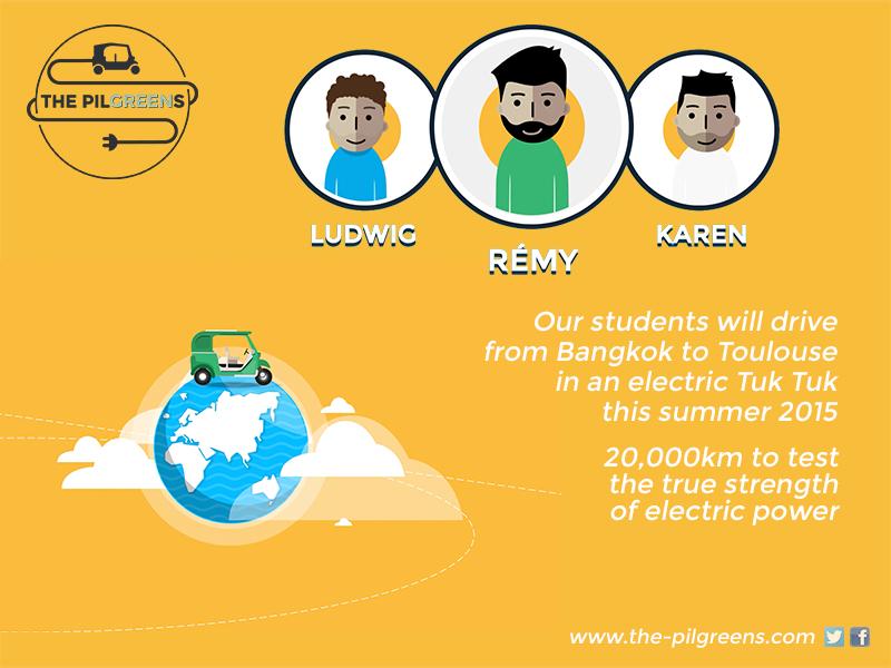 Electric Tuk Tuk built at Mahidol University by The Pilgreens