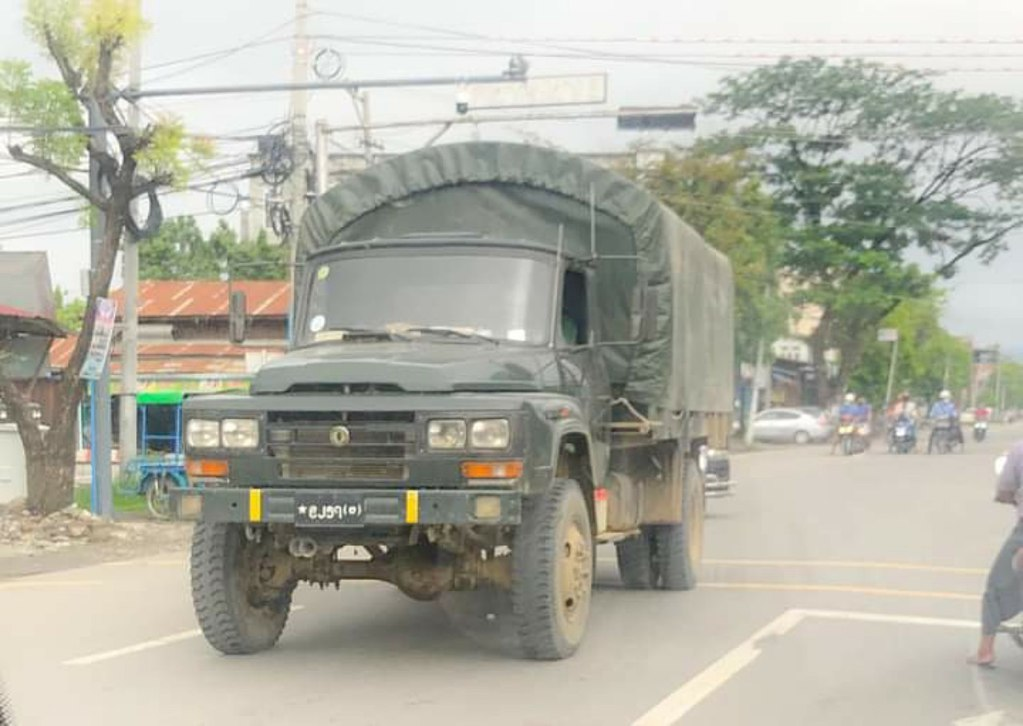 FAW Jiefang CA-141 military truck of Myanmar Army