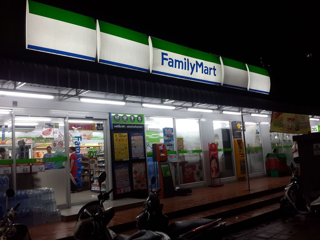 FamilyMart convenience store on Pattaya Beach Road