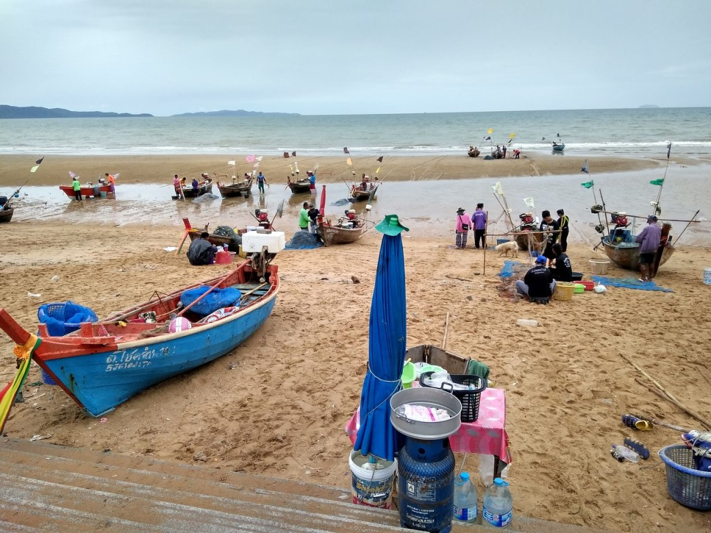 Fishing boats on the beach in Thailand