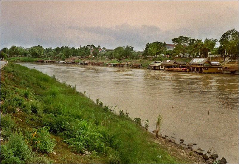 Floating houses in Phitsanulok