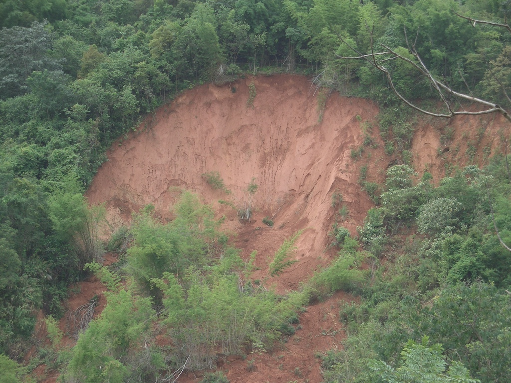 Landslide in Doi Pui, Chiang Mai