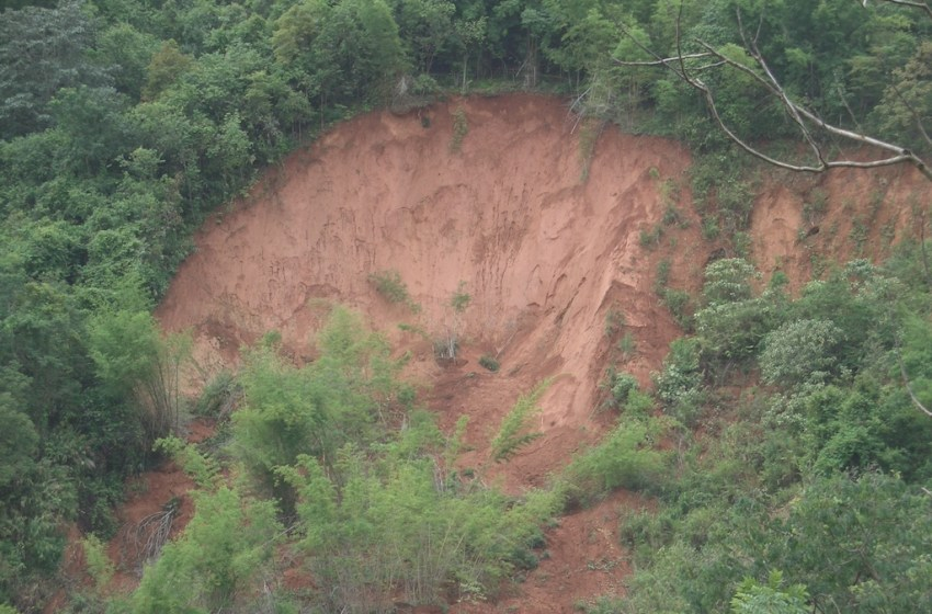Landslide in Doi Pui, Chiang Mai