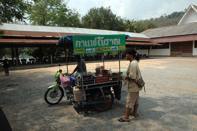 Food Vendor Motorbike with Sidecar in Kalasin