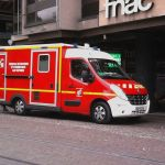 Ambulance in front FNAC in Strasbourg, France