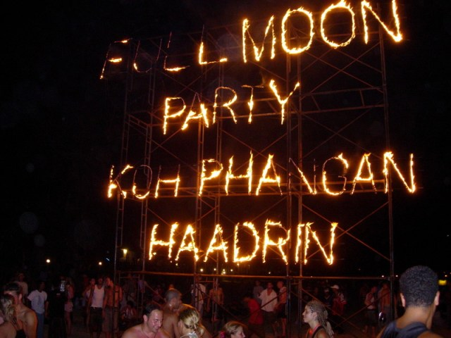 Drug use eclipses Full Moon party