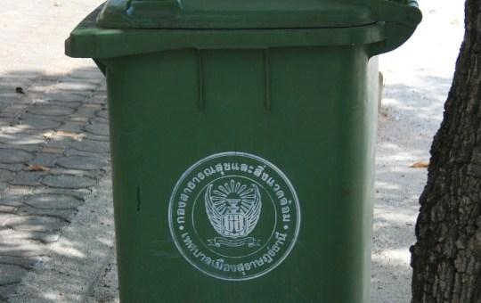 Trash bin in Thailand