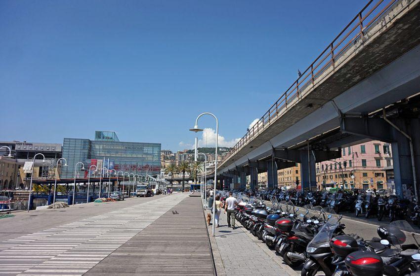 Strada Statale 1 bridge in Genoa, Italy.