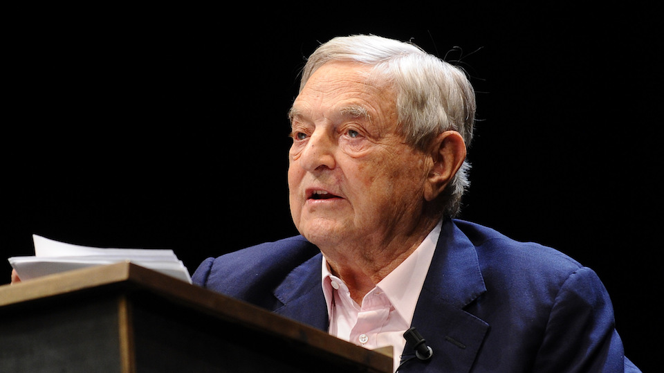 George Soros, a Hungarian billonaire responsible for the mass Muslim immigration in Europe