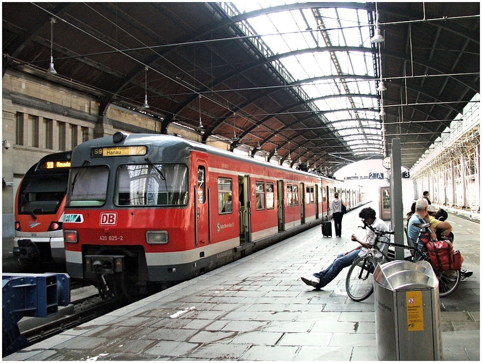 Mainz Central Railway Station in Germany