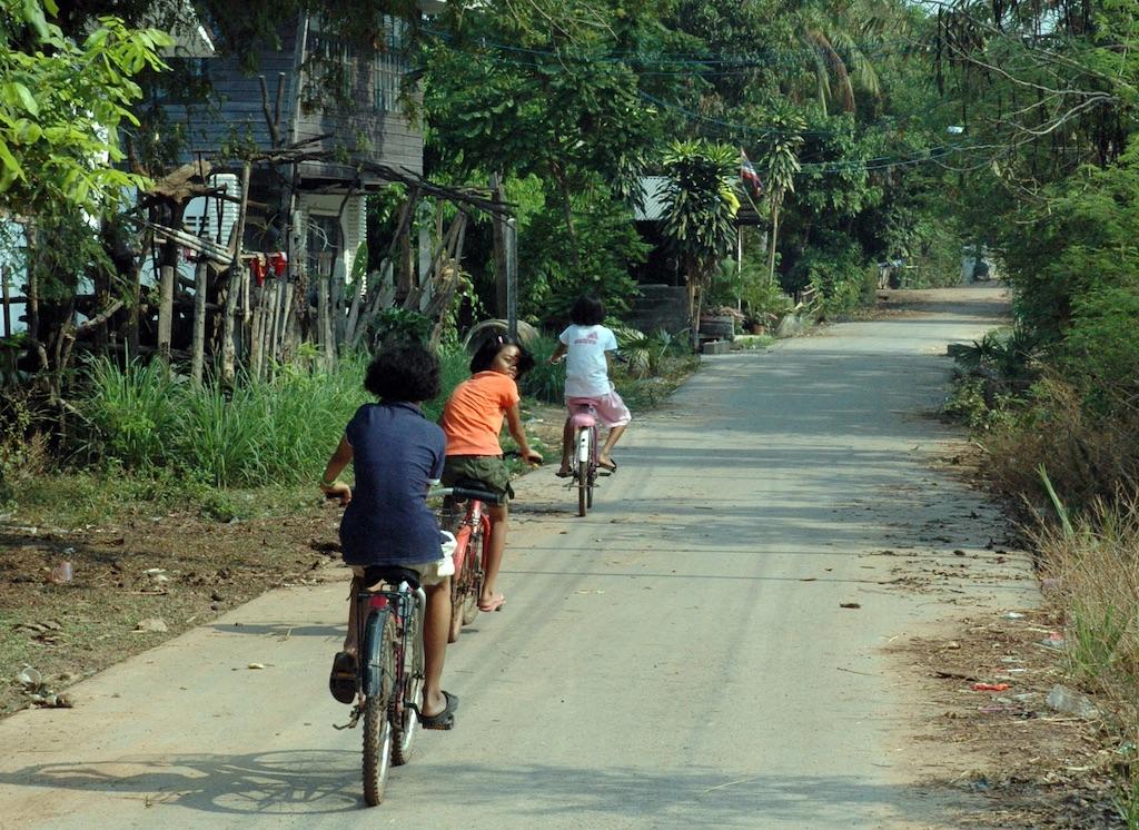 Girls Bicycling in Yodakeng.