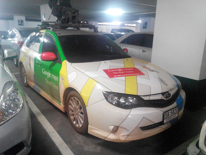 Google Street View Subaru car in Chiang Mai, Thailand