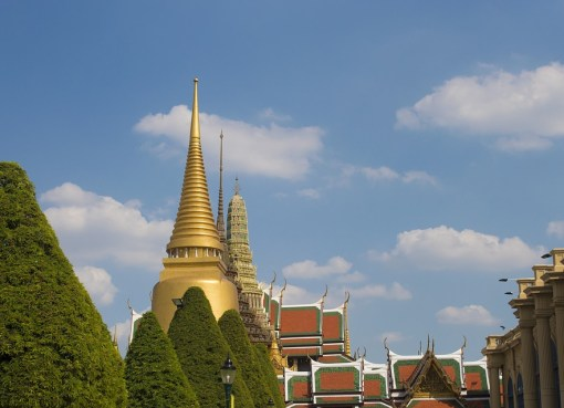 The Grand Palace and Wat Phra Kaew, Temple of the Emerald Buddha in Bangkok
