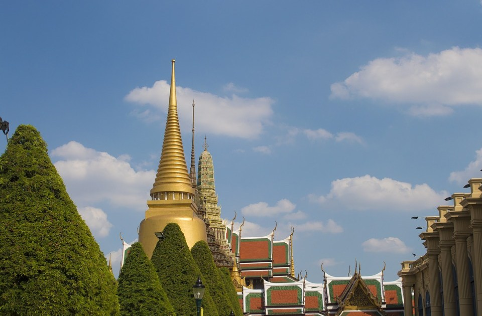 The Grand Palace and Wat Phra Kaew, the Temple of the Emerald Buddha in Bangkok