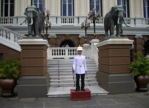 Royal Guard at Chakri Maha Prasat Throne Hall, Grand Palace, Bangkok