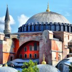 Hagia Sophia basilica in Istanbul, Turkey
