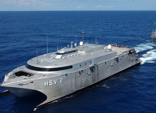 HSV-2 Swift hybrid catamaran