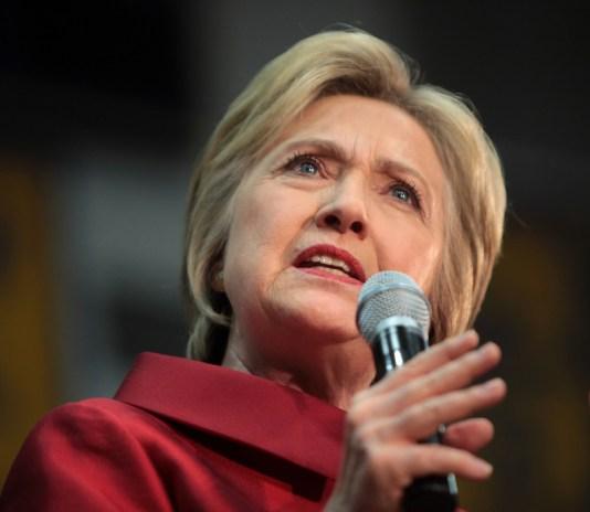 Former US Secretary of State Hillary Clinton speaking in Arizona