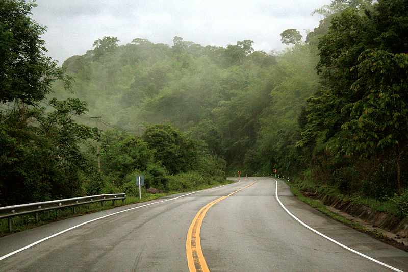 Highway 12 through Nam Nao National Park in Phetchabun province