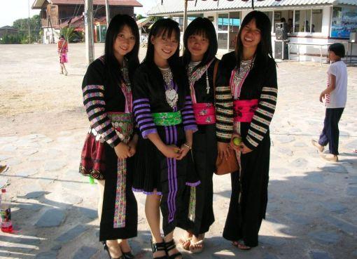Hmong girls in Chiang Rai
