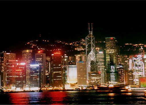 Hong Kong Victoria Harbour night