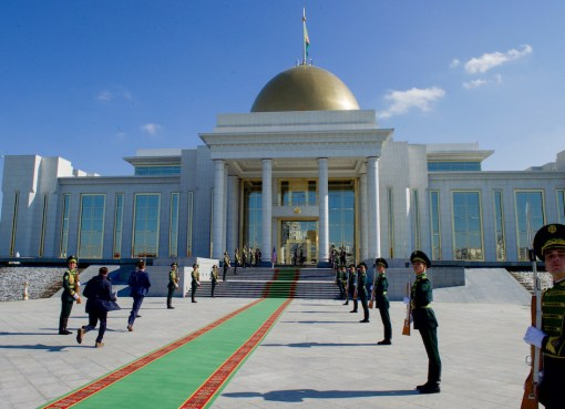 Honor Guard at Oguzkhan Presidential Palace in Turkmenistan
