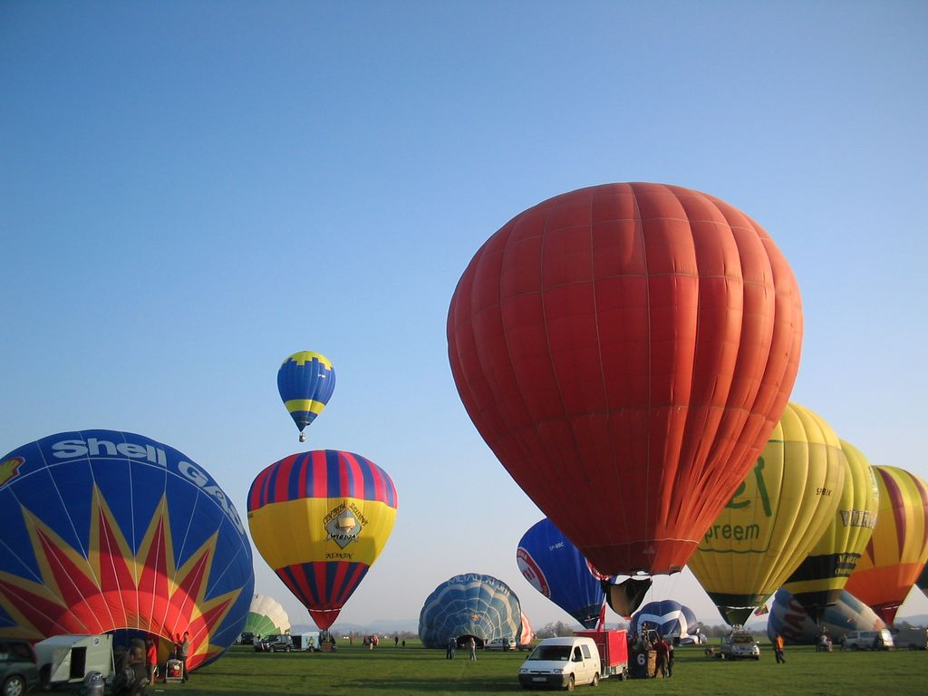 Hot air balloons in Krosno
