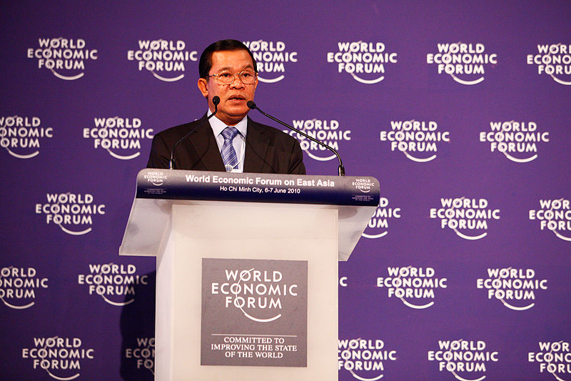 Prime Minister of Cambodia Hun Sen at the World Economic Forum