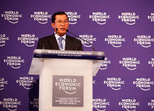 Prime Minister of Cambodia Hun Sen at the World Economic Forum