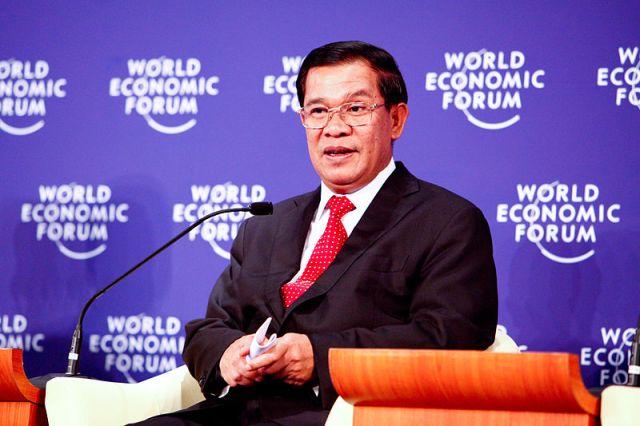 Prime Minister of Cambodia Hun Sen during the World Economic Forum