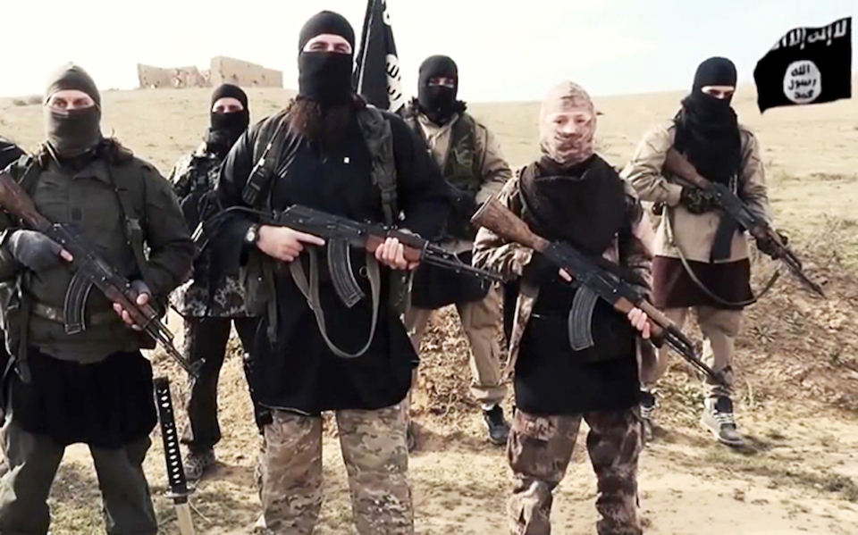 Armed Islamic State (ISIS / Daesh) jihadists
