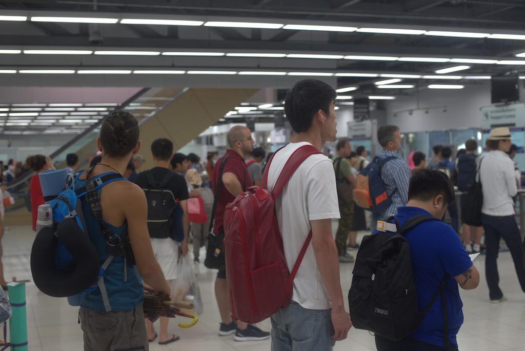 Immigration control, Suvarnabhumi Airport, Bangkok