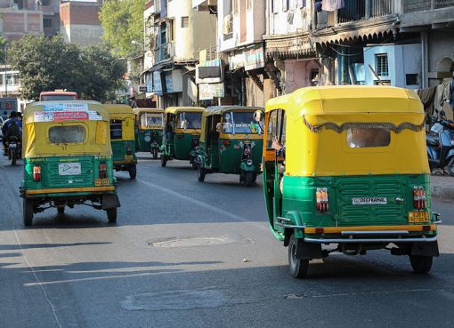 Auto rickshaws in Ahmedabad, India