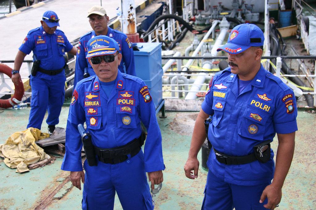 Indonesia Maritime Police (POLAIR) in Batam, Indonesia