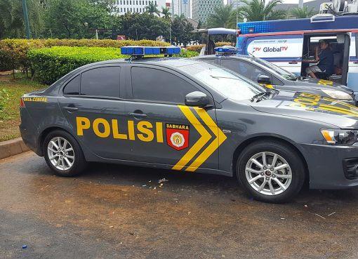 Indonesian police patrol car