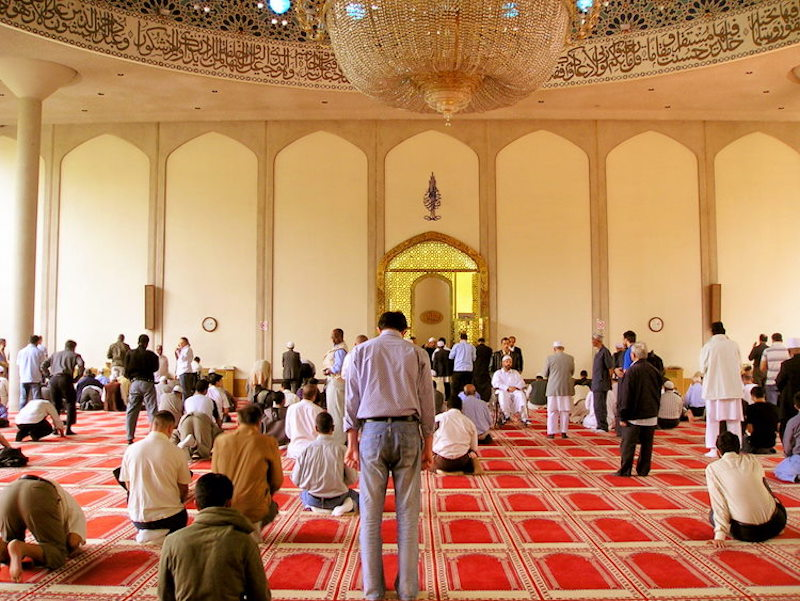 Inside a mosque in London