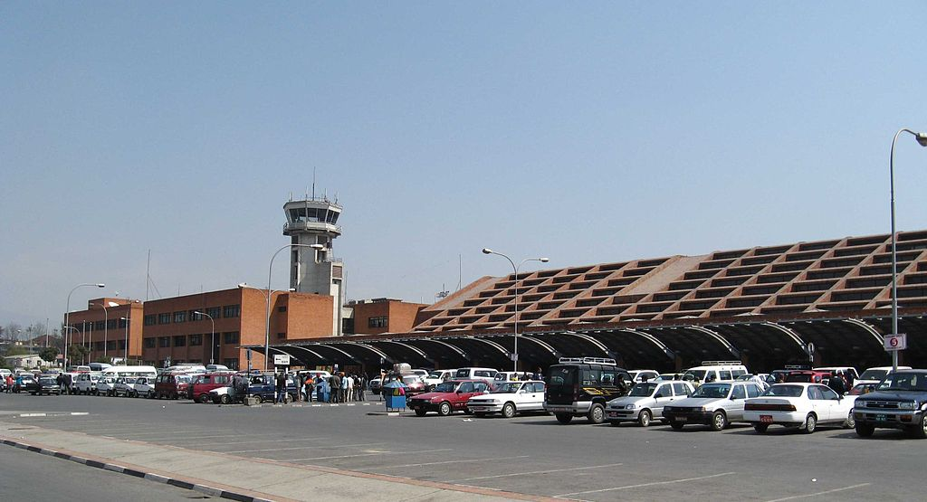 Tribhuvan International Airport in Kathmandu