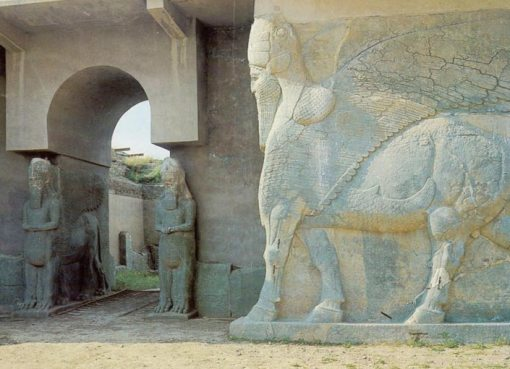 Ancient art in Nimrud, iraq