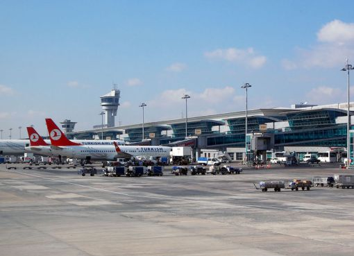 Turkish Airlines aircraft at Istanbul Ataturk Airport
