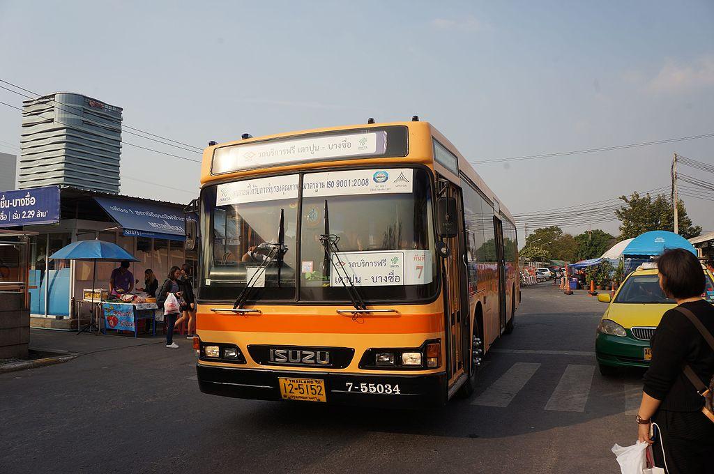Shuttle bus at Bang Sue Station, Bangkok