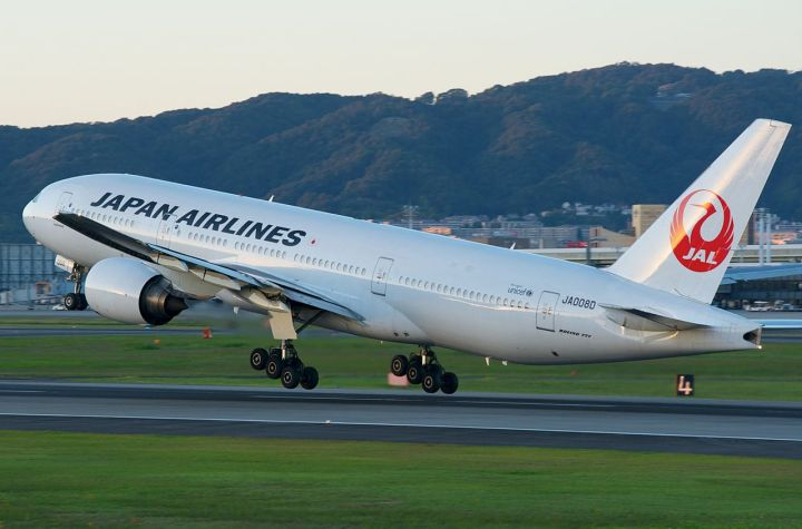 Japan Airlines Boeing 777-200 taking off