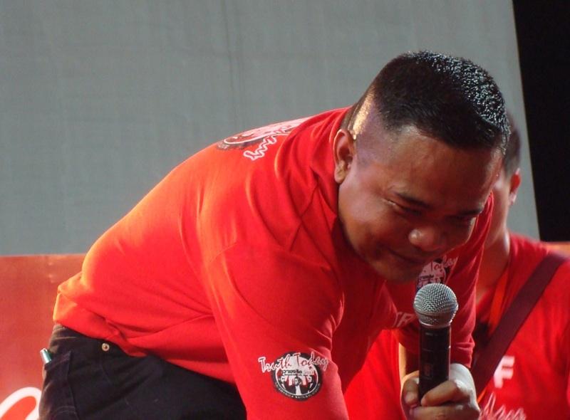 Red Shirt leader Jatuporn Prompan during a UDD speech